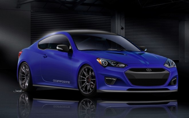 2013 Hyundai Genesis Coupe Cosworth Genesis Racing Series CGRS 2012 SEMA Show Car Right Front Image 111 660x413