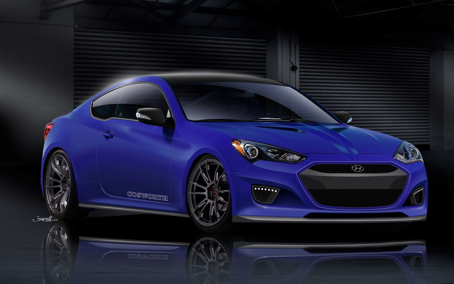 2013 Hyundai Genesis Coupe Cosworth Genesis Racing Series CGRS 2012 SEMA Show Car Right Front Image 111