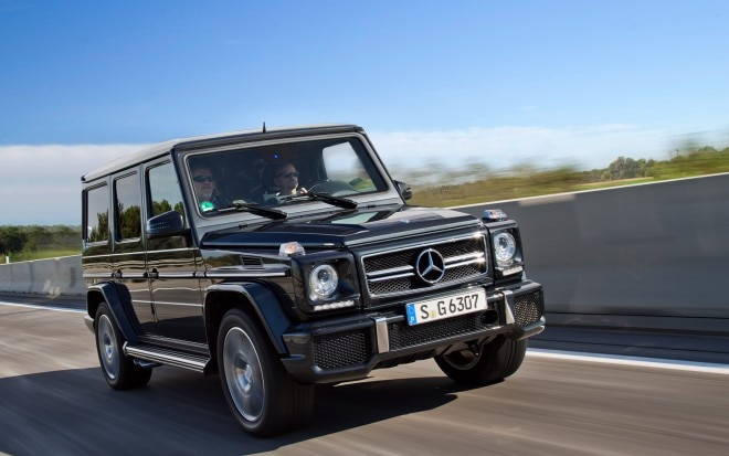 2013 Mercedes Benz G63 AMG Front Three Quarter On Highway1 660x413
