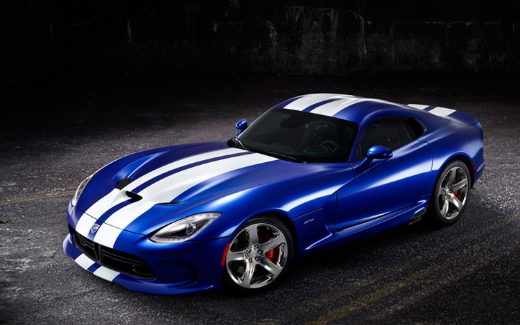 2013 SRT Viper GTS Blue With White Stripes1