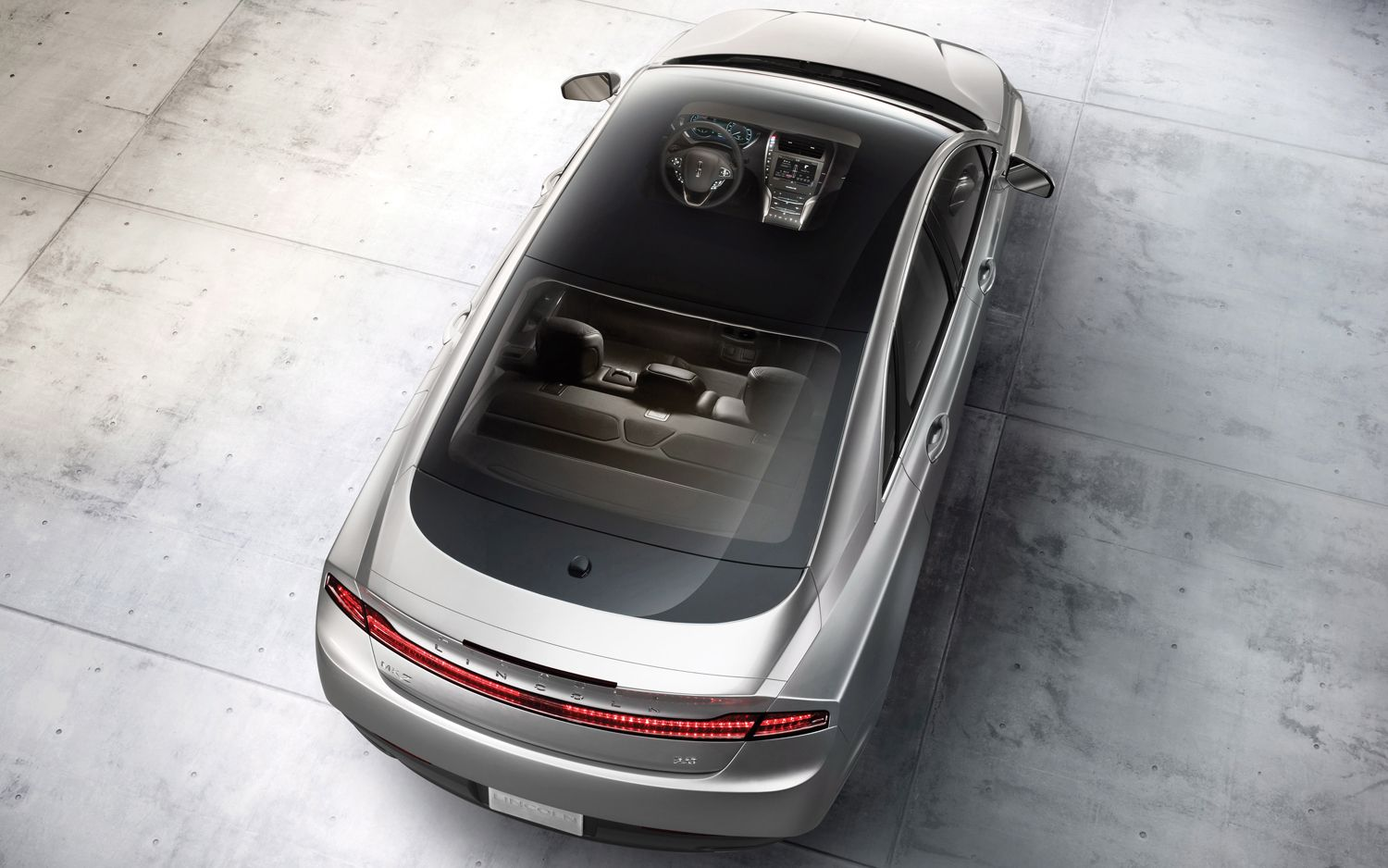 2013 Lincoln MKZ Top View1