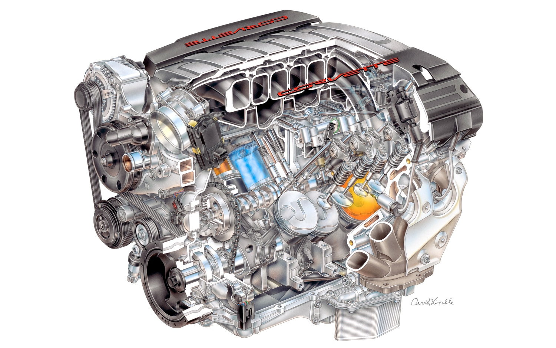 2014 Chevrolet Corvette C7 LT1 V 8 Engine Cutaway View1