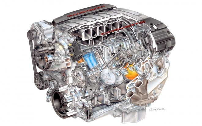 2014 Chevrolet Corvette C7 LT1 V 8 Engine Cutaway View12 660x413
