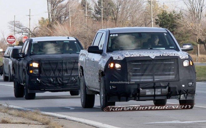 2014 GMC Sierra And 2014 Chevrolet Silverado Spied 11 660x413