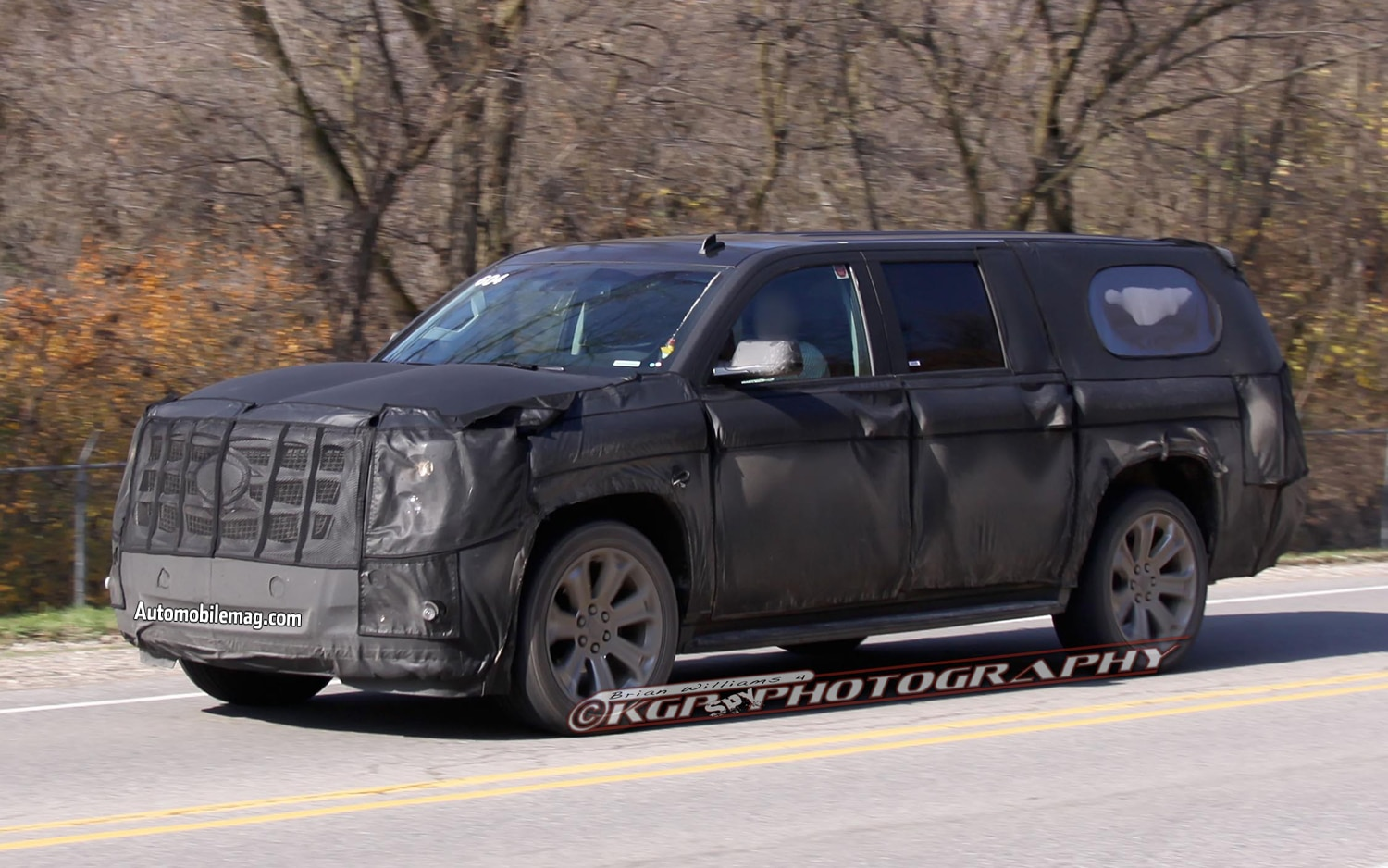Cadillac Escalade Left Front Spy Shot 21