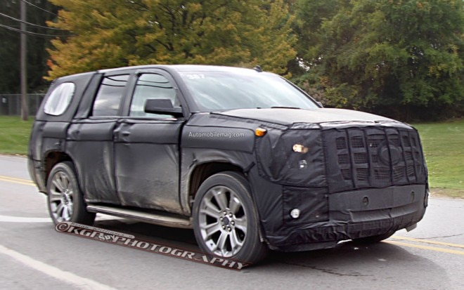 Cadillac Escalade Spy Photo Front Three Quarter 11 660x413