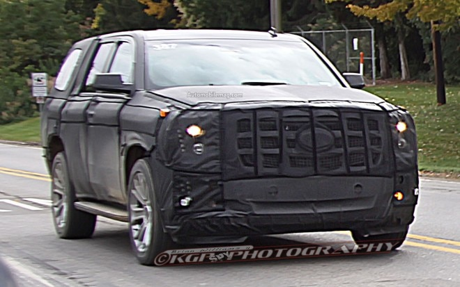 Cadillac Escalade Spy Photo Front Three Quarter 211 660x413