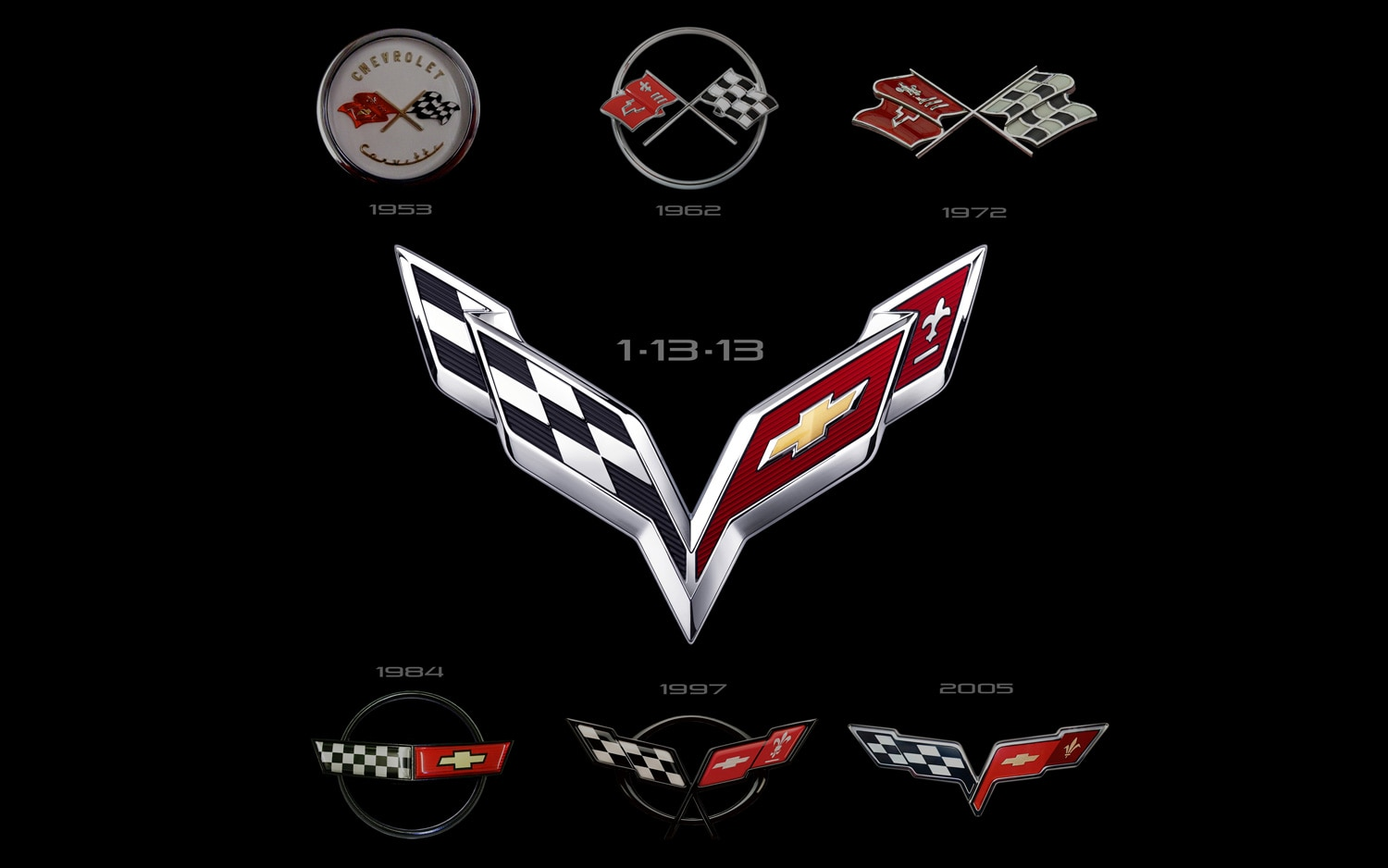 Chevrolet Corvette Crossed Flags Collection21