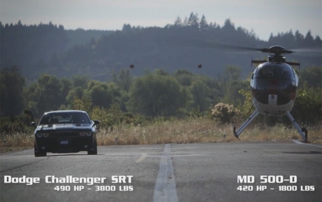 Dodge Challenger Vs Helicopter 1 660x413