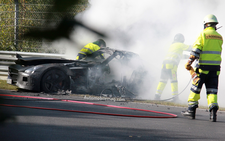 Mercedes Benz SLS AMG Black Series Prototype Fire 11