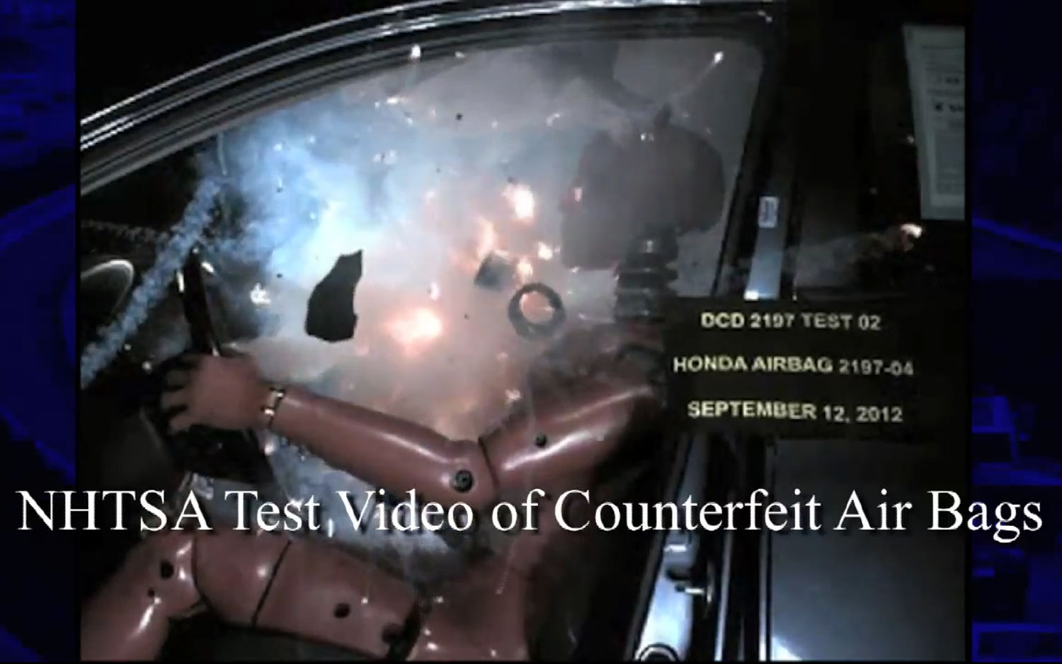 NHTSA Testing Counterfeit Airbags Shrapnel In Face1