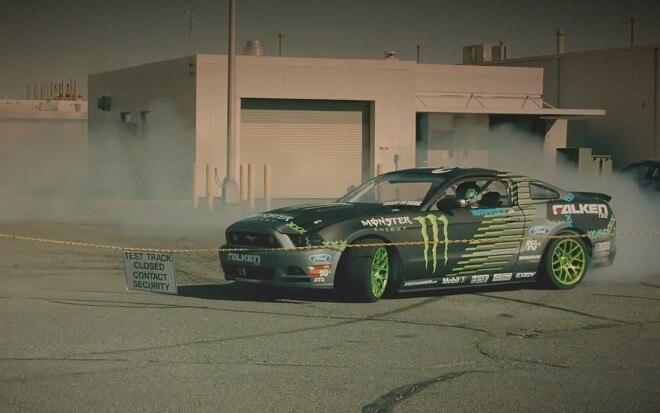 Vaughn Gittin Jr Mustang RTR Drift Test Track1 660x413