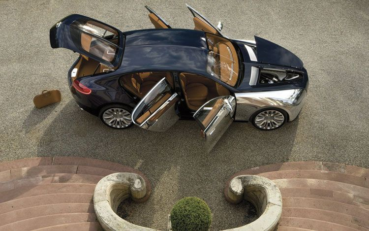 Bugatti 16C Galibier Concept Side Overhead Doors Open1
