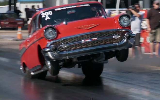 1957 Chevrolet Bel Air Hard Launch Drag Week1 660x413