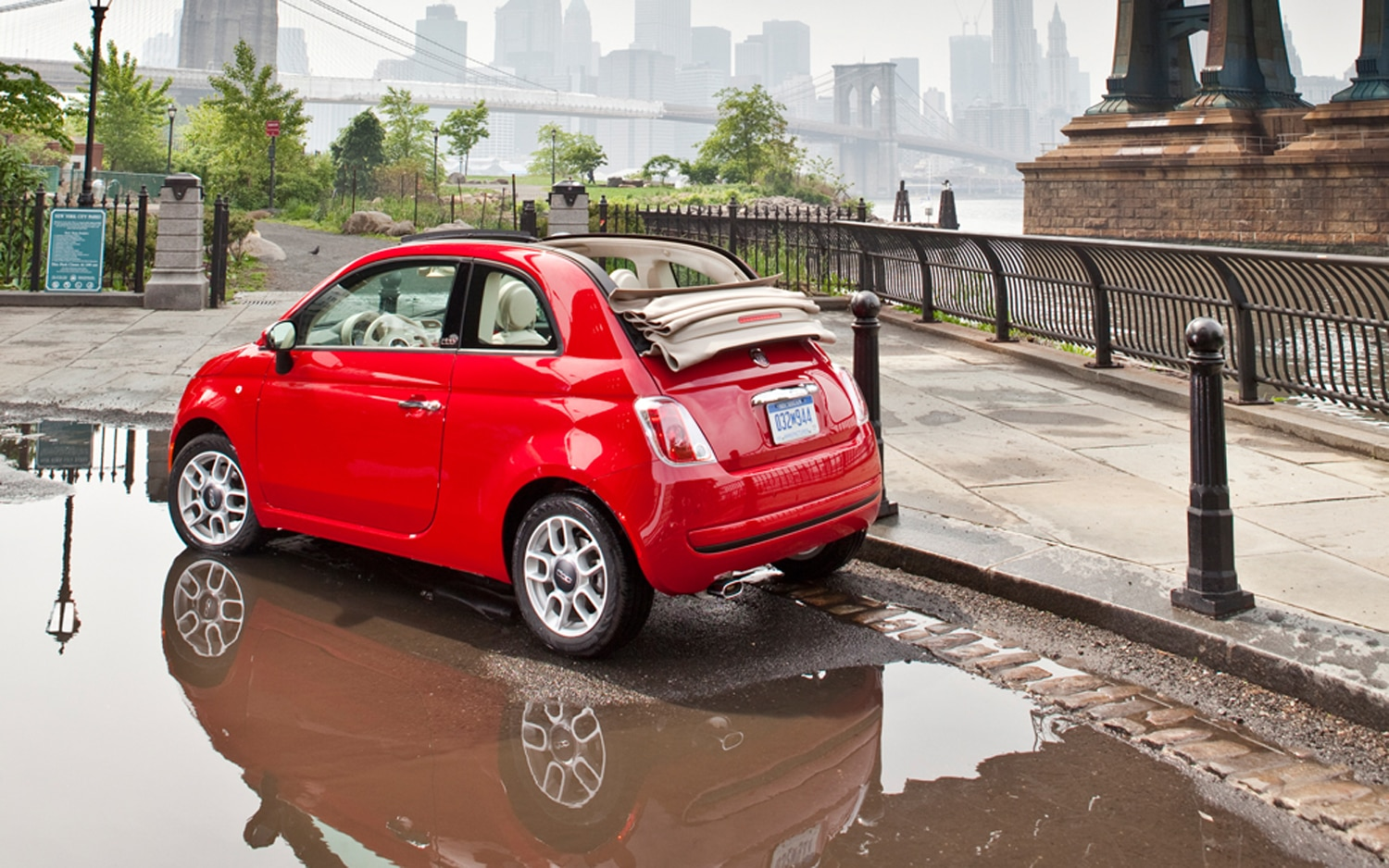 2012 Fiat 500C Pop Rear Three Quarters Promo