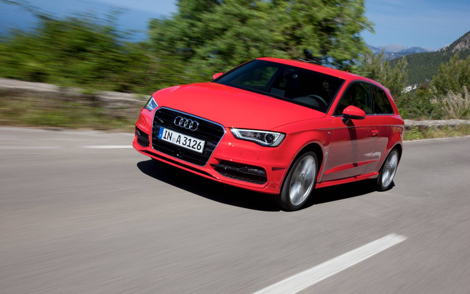 2013 Audi A3 Euro Spec Hatchback Front Left View1