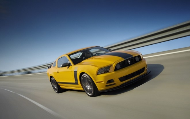 2013 Ford Mustang Boss 302 Front Three Quarter In Motion1 660x413