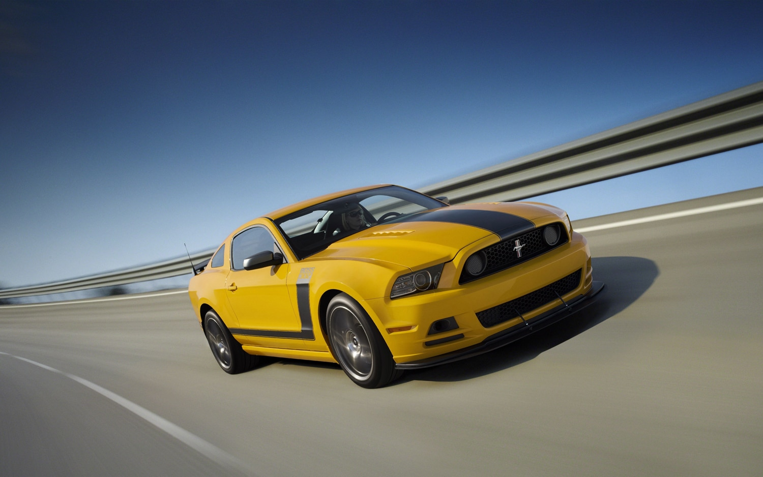 2013 Ford Mustang Boss 302 Front Three Quarter In Motion1