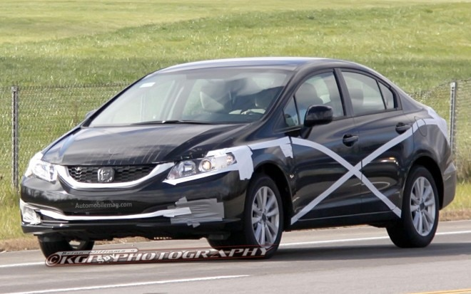 2013 Honda Civic Sedan Spy Shot Front View1 660x413