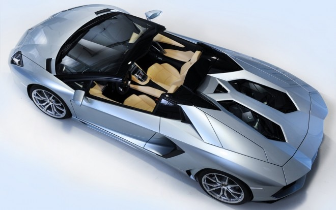 2013 Lamborghini Aventador Roadster Top Down View1 660x413
