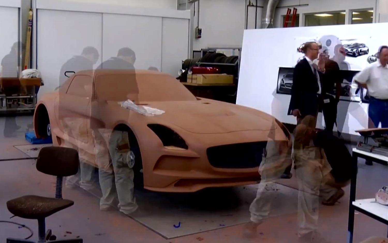 2013 Mercedes Benz SLS AMG Black Series Clay Model Progress1