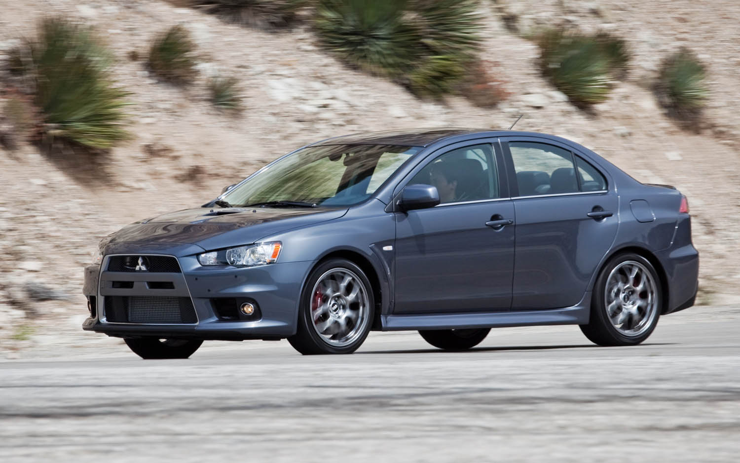2013 Mitsubishi Lancer Evolution MR Touring Side View1