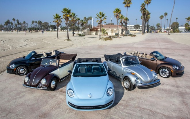 2013 Volkswagen Beetle Convertible Decade Editions With Old Beetles1 660x413