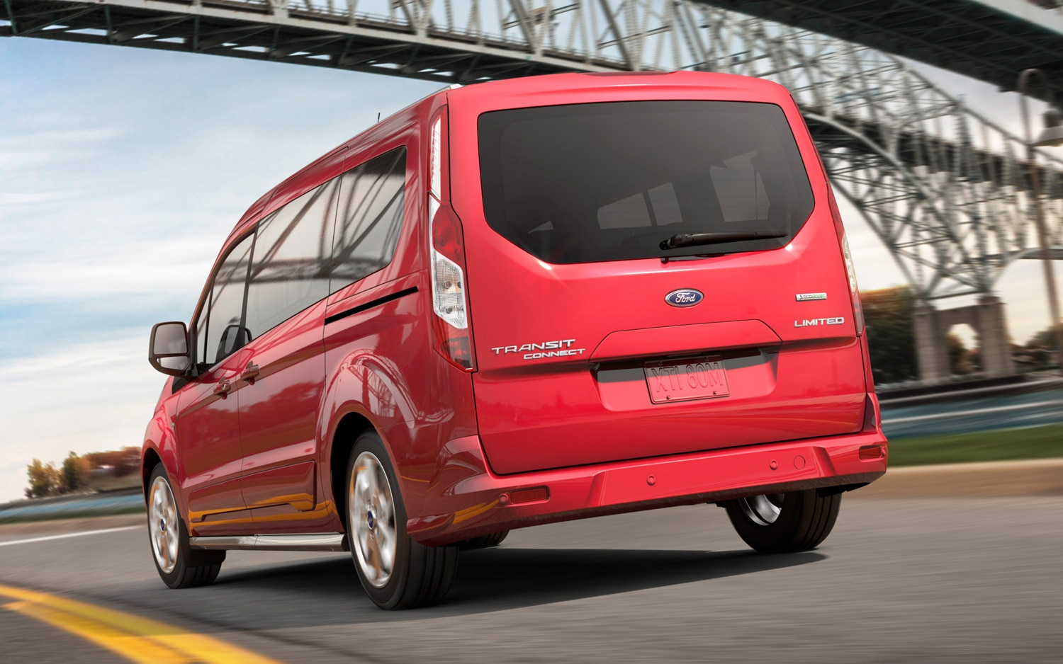 2014 Ford Transit Connect Rear View In Red11
