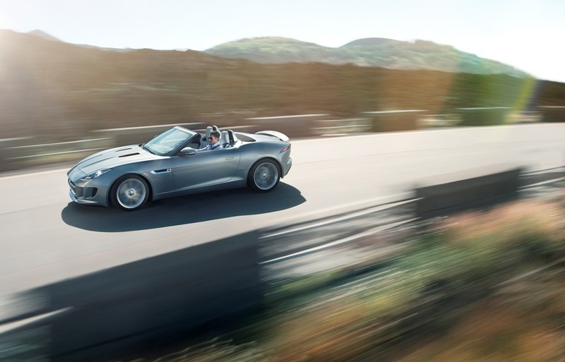 2014 Jaguar F Type Side In Motion11