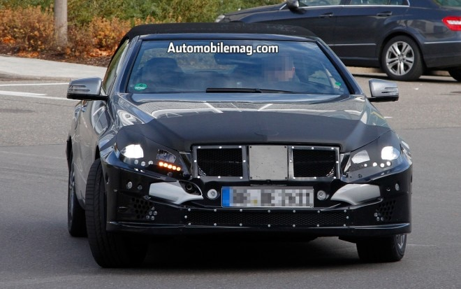 2014 Mercedes Benz E Class Convertible Spy Shots Front 11 660x413