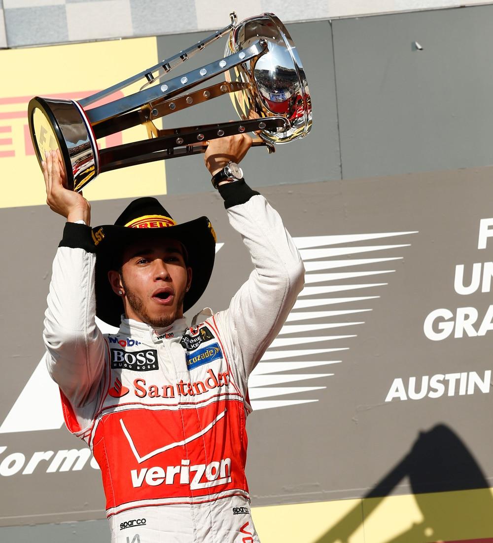Lewis Hamilton Winners Trophy Austin F1 Race1