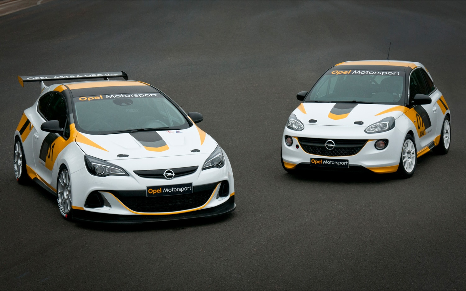 Opel Adam Cup Rally Car And Astra OPC Cup1