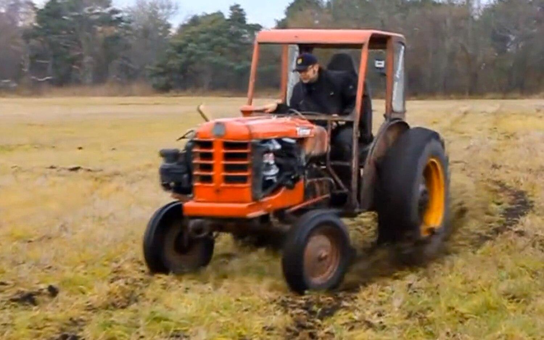 Volvo BM Terror Tractor Drifting In Field11