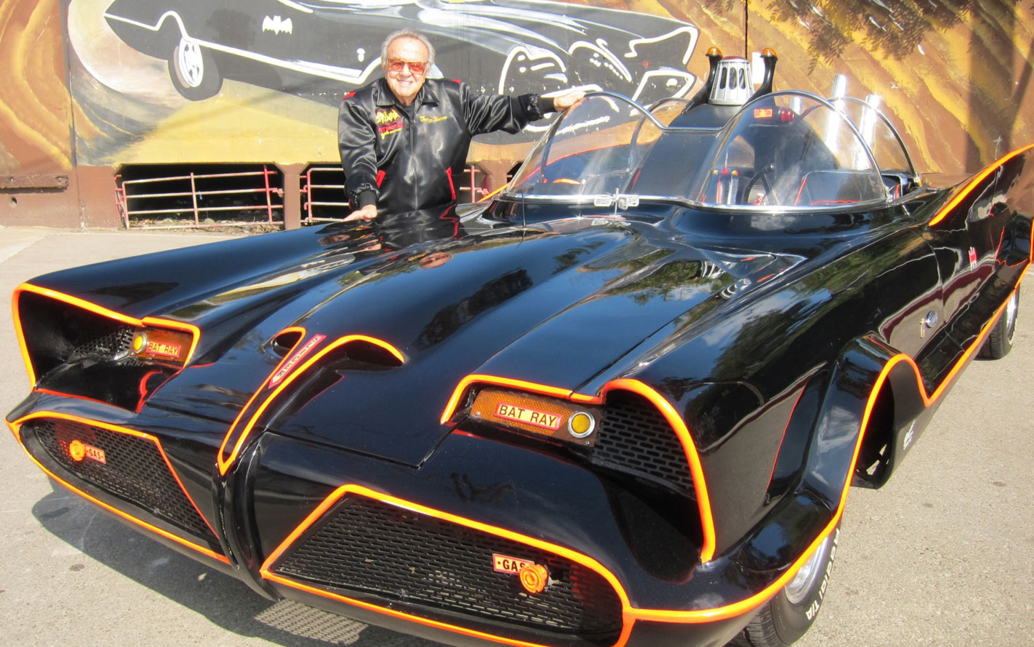 1966 Batmobile Front With George Barris1