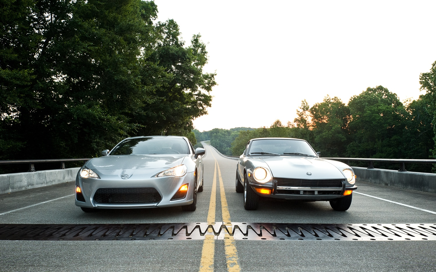 1971 Datsun 240Z And 2013 Scion FR S Front View1