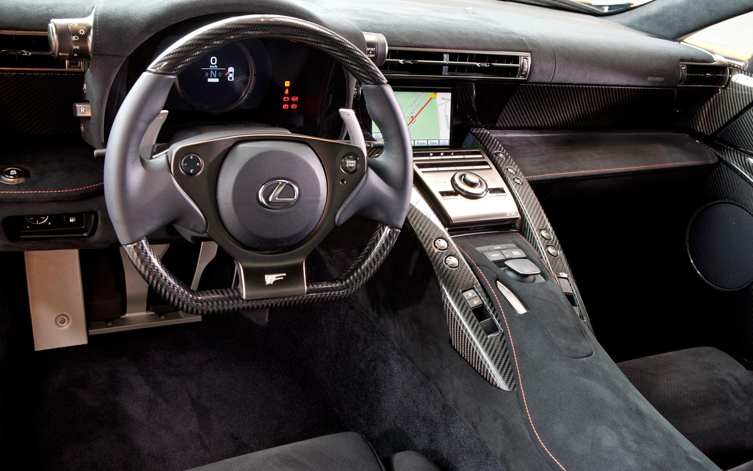 Beautiful 2011 Lexus LFA Nurburgring Edition Interior