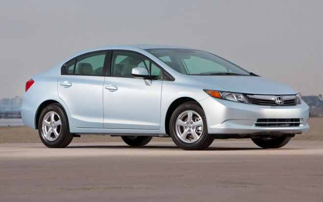 2012 Honda Civic Natural Gas Sedan Front Three Quarters Right1 660x413