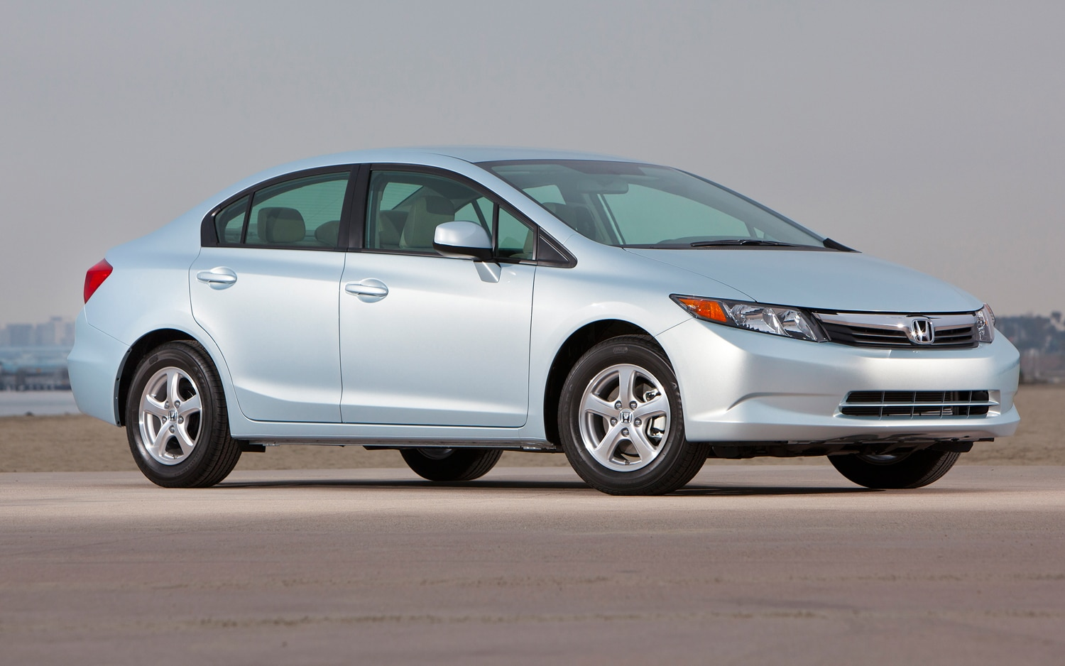 2012 Honda Civic Natural Gas Sedan Front Three Quarters Right1