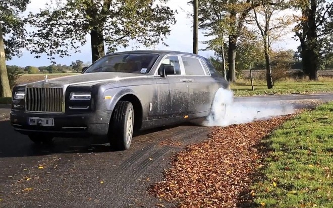 2013 Rolls Royce Phantom Front Three Quarter Tire Smoke1 660x413