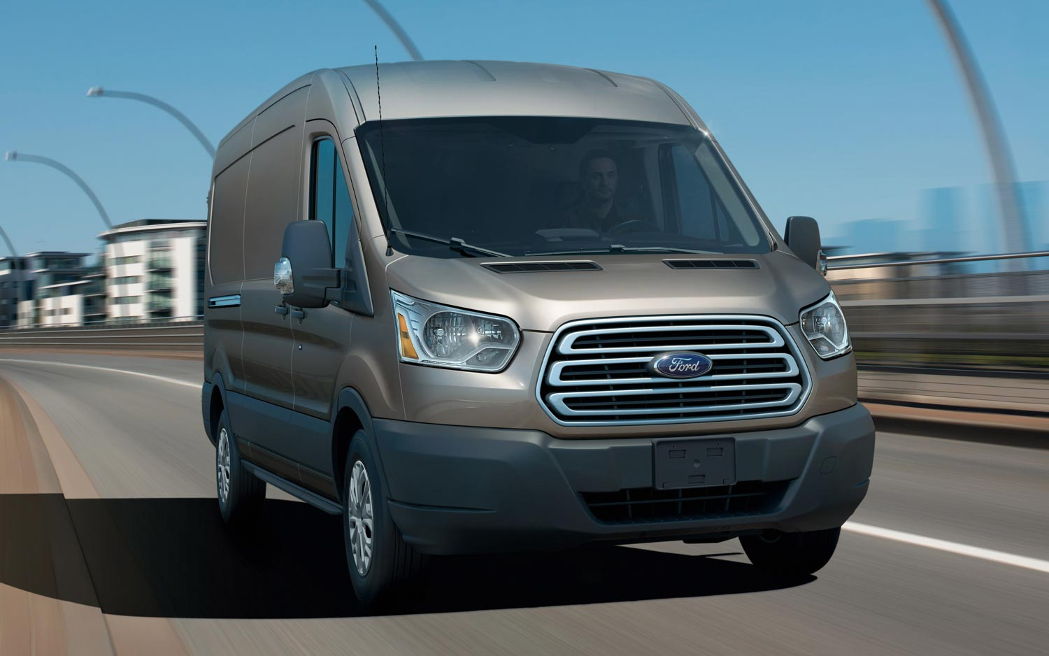 2014 Ford Transit Front Three Quarters View On Road1