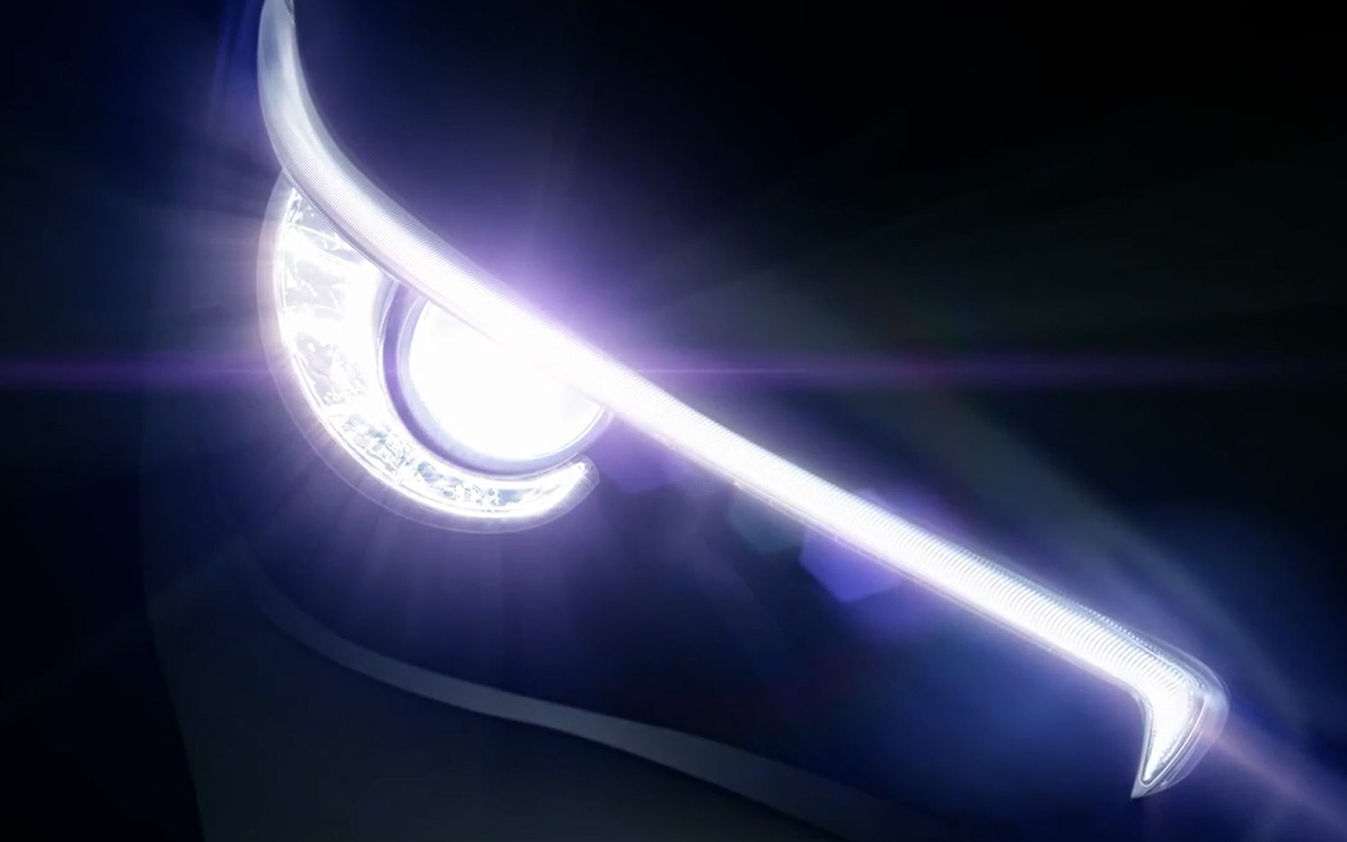2014 Infiniti Q50 Teaser Headlight On1
