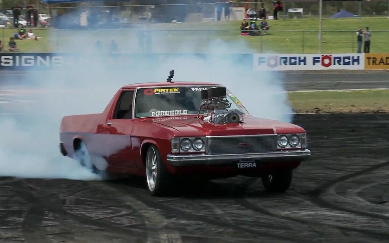 Red Holden Ute Blower1