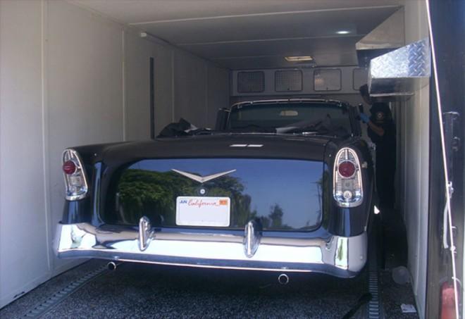 Stolen 1957 Chevrolet Bel Air Convertible Rear1 660x453