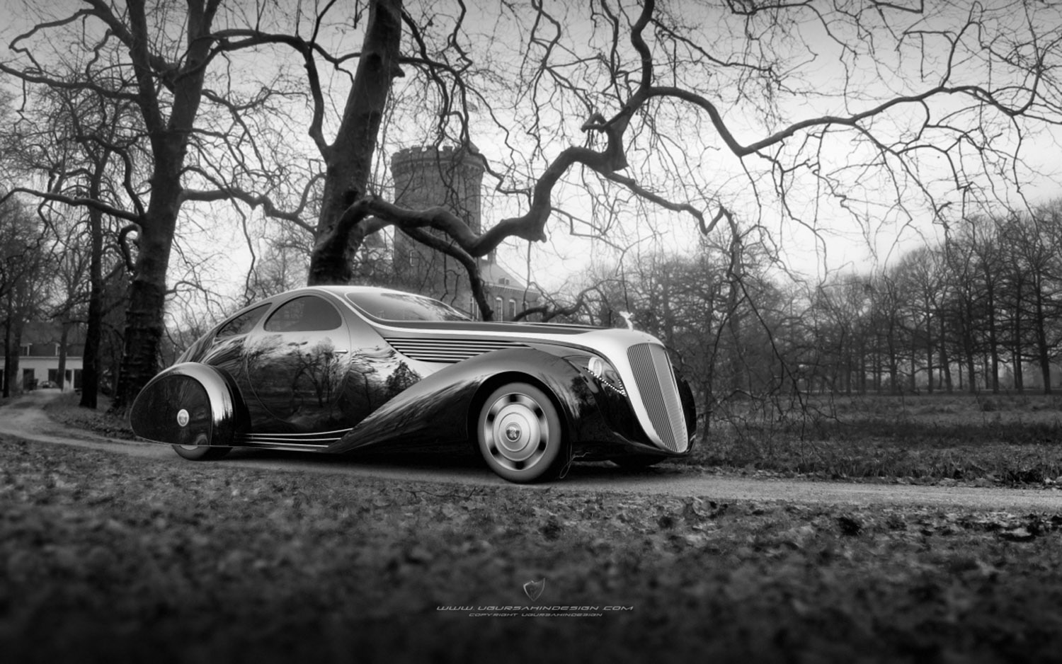 designer proposes wild retro art deco rolls royce phantom coupe. Black Bedroom Furniture Sets. Home Design Ideas