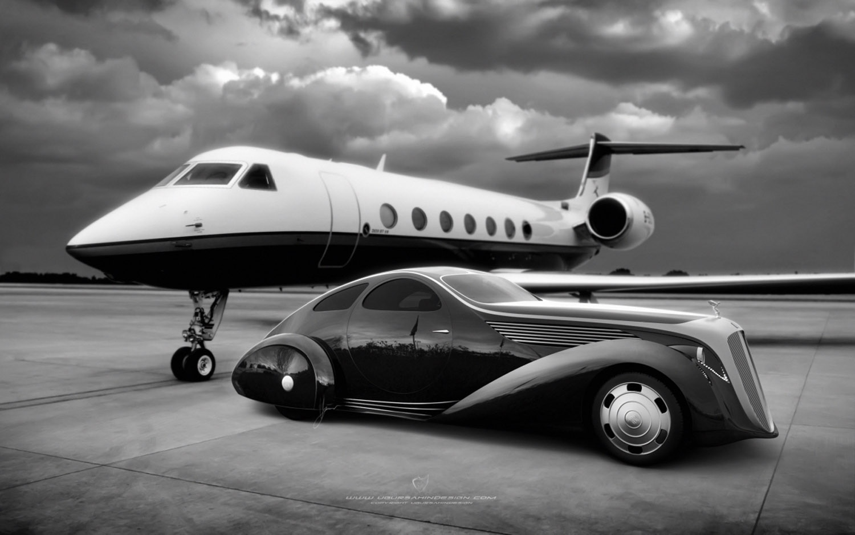 UgurSahinDesign Rolls Royce Aerodynamic Coupe II Front Three Quarter Jet1