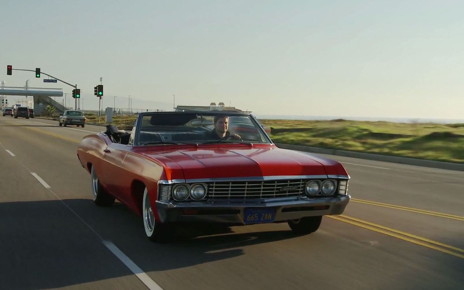 1967 Chevrolet Impala Convertible Red Driving1