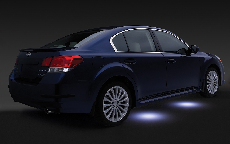 2010 Subaru Legacy Rear Three Quarter With Puddle Lights1