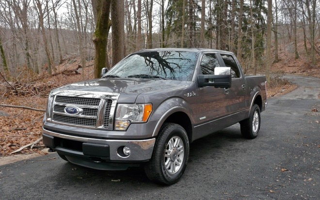 2012 Ford F150 EcoBoost Front Left Side View 660x413