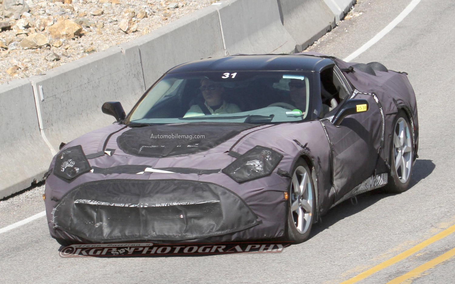 2014 Chevrolet Corvette C7 Spy Photo Front Three Quarter Motion 311