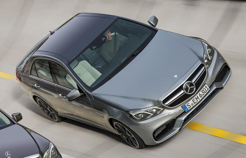 2014 Mercedes Benz E63 AMG Front Three Quarters View1